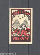 Snake Fight Vonkvry/Matchbox Labels/Lucifer-Etiketten
