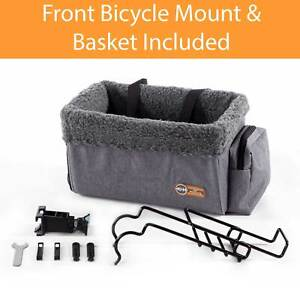 """K&H PET PRODUCTS 100542371 Gray TRAVEL BIKE BASKET FOR PETS LARGE GRAY 12"""" X ..."""