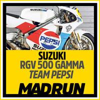 Kit Adesivi Suzuki Pepsi RGV 500 1989 - Kevin Schwantz - High Quality Decals