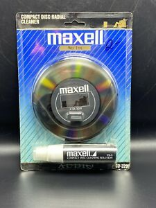 Maxell CD CD-ROM DVD Wet Disc Cleaner CD-320 Compact Disc Lens Cleaning Kit