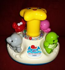 Vtech SPIN & LEARN TOP Turtle Octopus Crab Dolphin Lights Music Spinning Fun