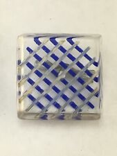 Vintage Carved Reverse Painted Lucite Acrylic Square Sewing Button