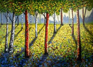 Original Landscaping art extra large on acrylic canvas 85 x 58 inches!