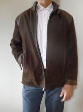 vintage retro 90s L men's brown bomber leather jacket coat very good