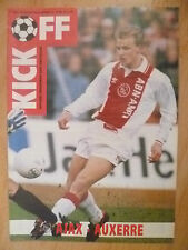 KICK OFF Magazine : 1992-93 UEFA CUP, AJAX v AUXERRE