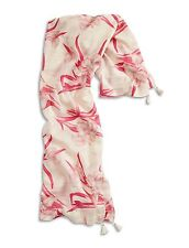 Lucky Brand - NWT $59 - Square - Pink Orchid Floral Silk Blend Fringe Scarf