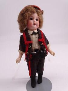 """Antique German Bisque Doll Composition Armand Marseille 390 12/0 Miniature 8""""T"""