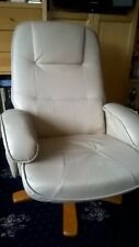Swivel Recliner Chair with Matching Footstool and Massage Function