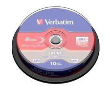 Verbatim 43694 Blu-ray Rewritable Media - BD-RE - 2x - 25 GB - 10 Pack Spindle -