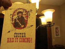 MINI CUSTER HAD IT COMING  iron on t shirt transfer pocket size/hat  NOS
