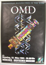 ORCHESTRAL MANOEUVRES IN THE DARK CONCERT TOUR POSTER 1983 DAZZLE SHIPS OMD