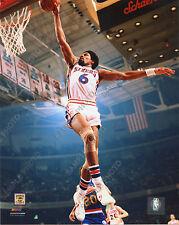 Julius Erving 1974 Philadelphia 76ers 8x10 Photofile Action Photo Slam Dunk