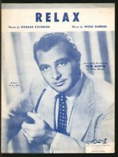 Relax 1953 TONY MARTIN Vintage Sheet Music Q22