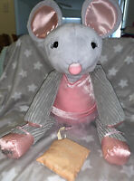 "Scentsy Buddy 'Maddie The Ballerina' Mouse 17"" Plush Pink Gray With Scent Pack"