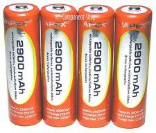 Vapex 4 x AA 2900 mAh NiMh Rechargeable Batteries avec étui