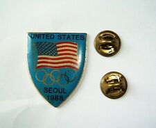 Seoul 1988 Olympic games pin badge USA National Olympic Committee