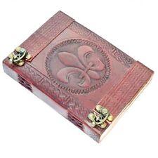 Fluer De Lis Leather Embossed Journal / Diary - Re-Enctment / Larp