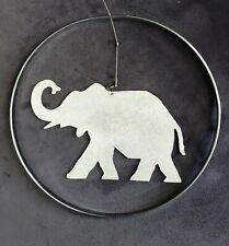 Stainless Steel Elephant Hanging Mobile Hand Made Artist Made Kinetic Art Decor