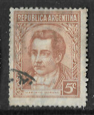 Argentina 1935 5c brown used stamp shows Mariano Moreno - see scan