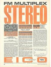 1961 Eico Reel-to-Reel RP-100W Tape Deck Kit Ad/ ST96 Tuner/ST70 Amp