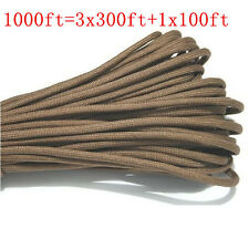 1000FT/300m MultiIII Stand 7 Cores 550 Paracord Parachute Cord Lanyard #40 Coffe