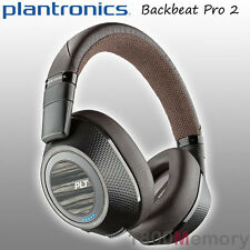 Plantronics BackBeat Pro 2 Bluetooth Noice Cancelling Headphones + Mic Black Tan