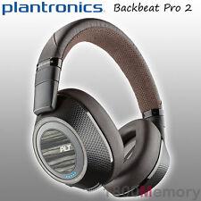 Plantronics BackBeat Pro 2 Bluetooth Noice Cancelling Headphones + Mic Black Tan