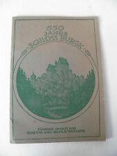 Heft um 1950 Schloss Burgk 550 Jahre