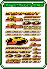 RC STICKERS MODEL CAR SERPENT RACING BRUSHLESS F1 1/10 DRIFT 1/8 BUGGY RED YEL B