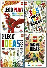 DK Lego Ideas Collection 4 Books Set Lego Play Book, 365 Things Awesome LEGO NEW