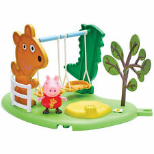 Peppa Pig Peppa's Outdoor Fun Swing Playset With Articulated Figure Toy 3+