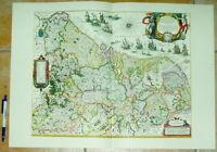 Holland Niederlande Belgien alte Landkarte Reproduktion 60 x 43 cm Ansicht Druck