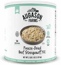 Augason Farms Beef Stroganoff 100% REAL FREEZE DRIED BEEF Emergency Food #10 Can