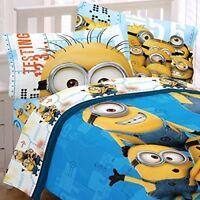 Despicable Me Bedding Set Minions Testing 123 Full Comforter & Sheet Set-NIP