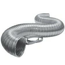 """NEW LAMBRO 3120L 4"""" X 8 FOOT ALUMINUM FLEX DUCT PIPE DRYER HOSE WITH CLAMPS"""