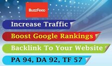 Write and publish an article on Buzzfeed  with your Link  , DA 92 , TF 57 . SEO