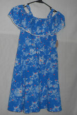 NWT SO Girls' Off Shoulder Drawstring Blue Star Heart Knit Dress - Size L 12