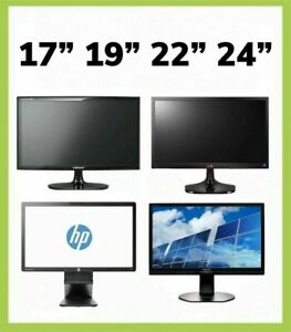 """Cheap Monitor TFT for Computer ,CCTV ,17""""19""""22""""24""""Various Brand With Power Cable"""