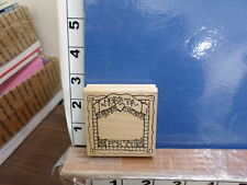 DOTS saying herb tea for you frame friend drink rubber stamp 7j
