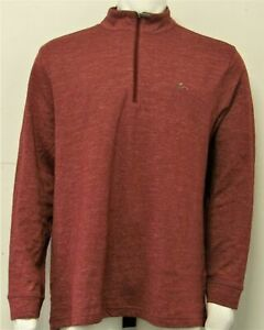 Mens Greg Norman 1/4 Zip Pullover Golf Sweater (XXL) Red F6522