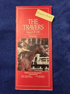 1981 TRAVERS PROGRAM PLEASANT COLONY LORD AVIE LEMHI GOLD 3 CHAMPS MISWAKI U/C