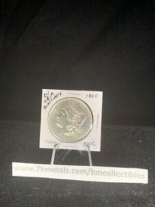 Uncirculated 1900 Philadelphia Bu Gem Silver Morgan Dollar Blast White