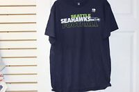 Seattle Seahawks Team Apparel T-Shirt Dark Navy With Green/White Lettering