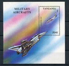 TANZANIA 1994 MNH ** Souvenir Sheet Aviation Airmail Planes Military Aircrafts