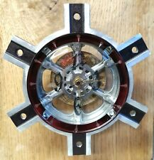 Steampunk Wall Clock- Metal Gears- Antique World Map- Industrial- Handmade