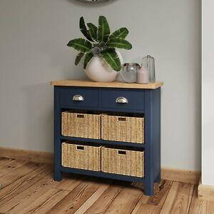Dovedale Blue 2 Drawer 4 Basket Sideboard / Modern Side Cabinet Cupboard