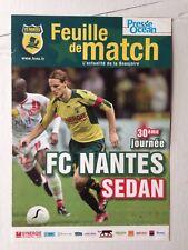 FEUILLE DE MATCH // FC NANTES - SEDAN 1 AVRIL 2007
