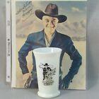 HOPALONG CASSIDY Drinking Glass 1950 HOPPY DINNER MILK Glass 8 OZ