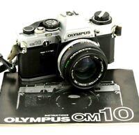 OLYMPUS OM10 & 50mm LENS, 35mm Film Camera, Ideal Student Starter