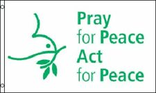 3x5 Pray For Peace Act For Peace Flag 3'x5' Banner Brass Grommets Fade Resistant